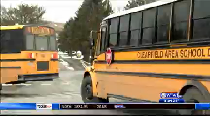 clearfield buses early dismissal 2 blackout