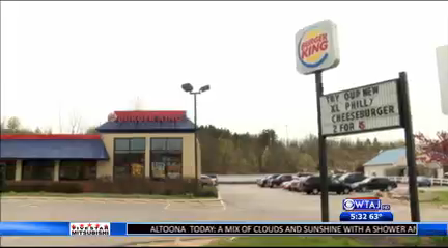 clearfield burger king mcdonald's theft 1