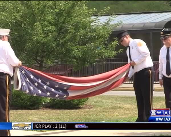 Ceremony held to retire flags_20160724145003