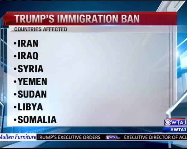 Local residents react to immigration ban_56045347