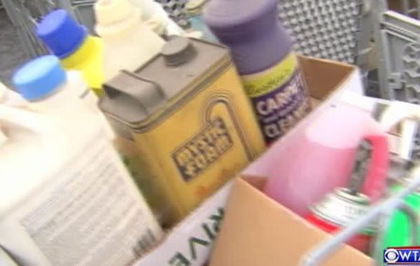 Household hazardous waste collection set_97287863