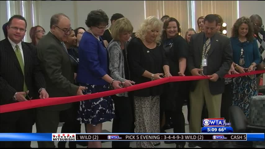 Cosmetology school ribbon-cutting ceremony