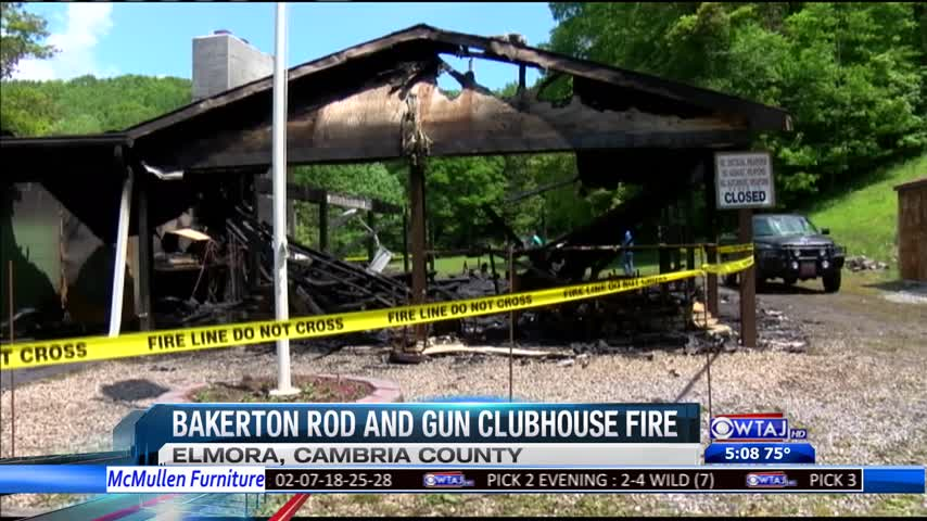 Bakerton Rod & Gun Club fire