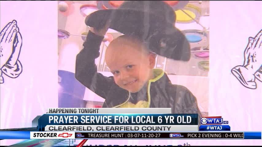 Prayer service for local 6 yr old
