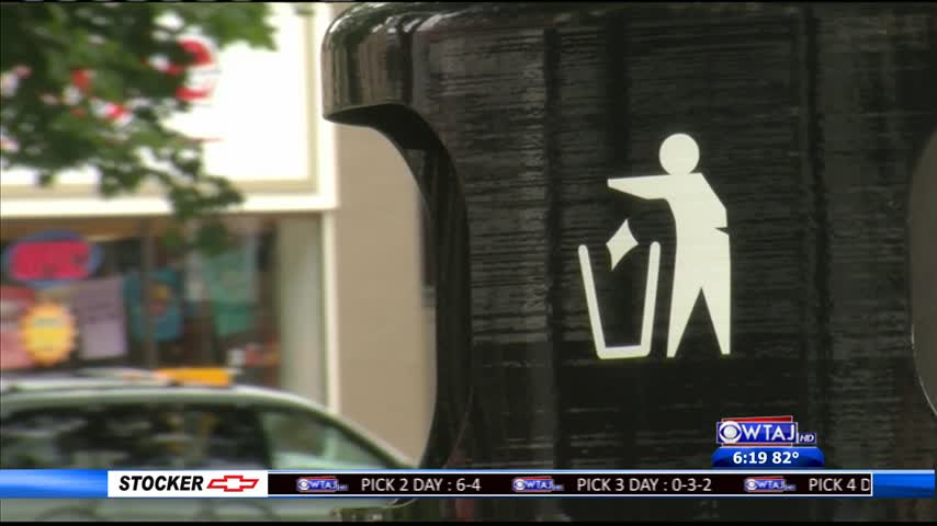 Johnstown gets new trash cans