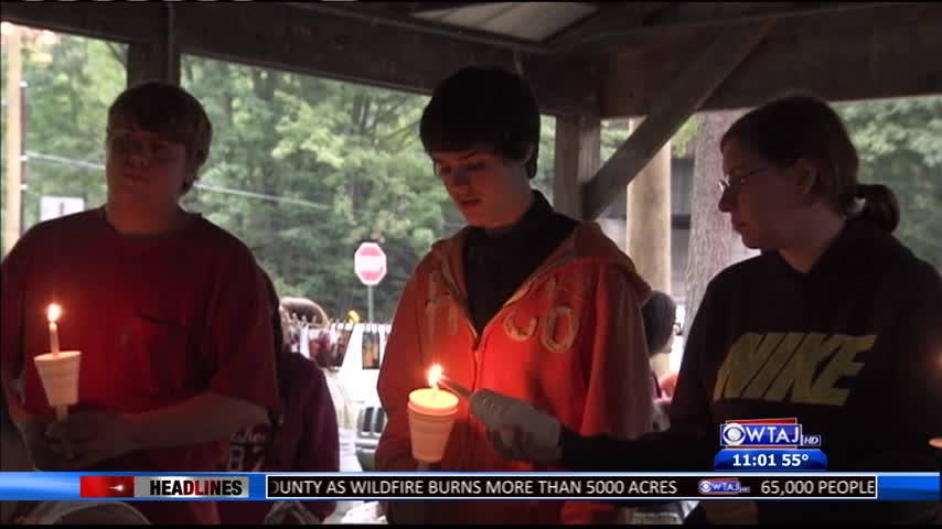 Candlelight Vigil held for Chase Anderson