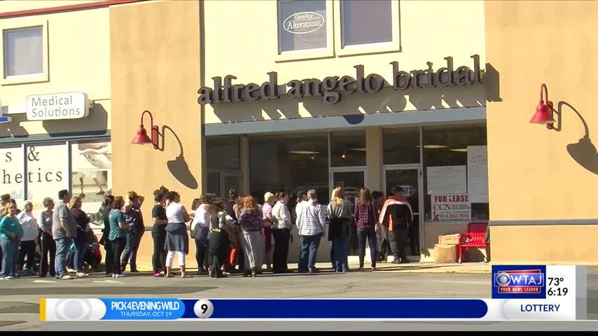 Brides flock to flash sale