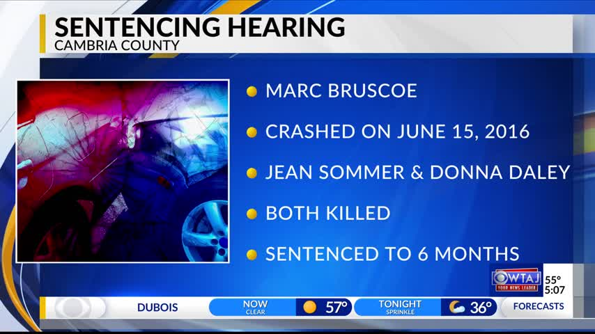 Bruscoe sentenced in fatal car crash
