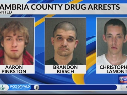 Drugs arrests in Cambria County