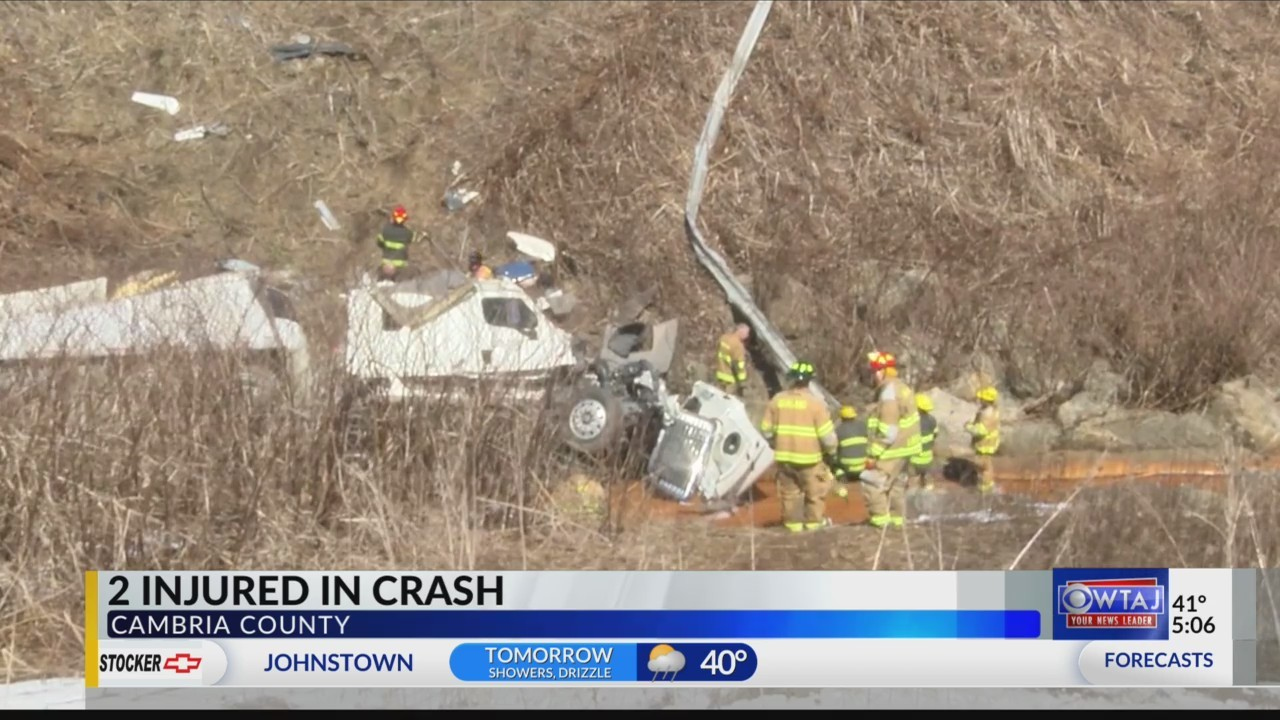 Two injured in crash on Route 56