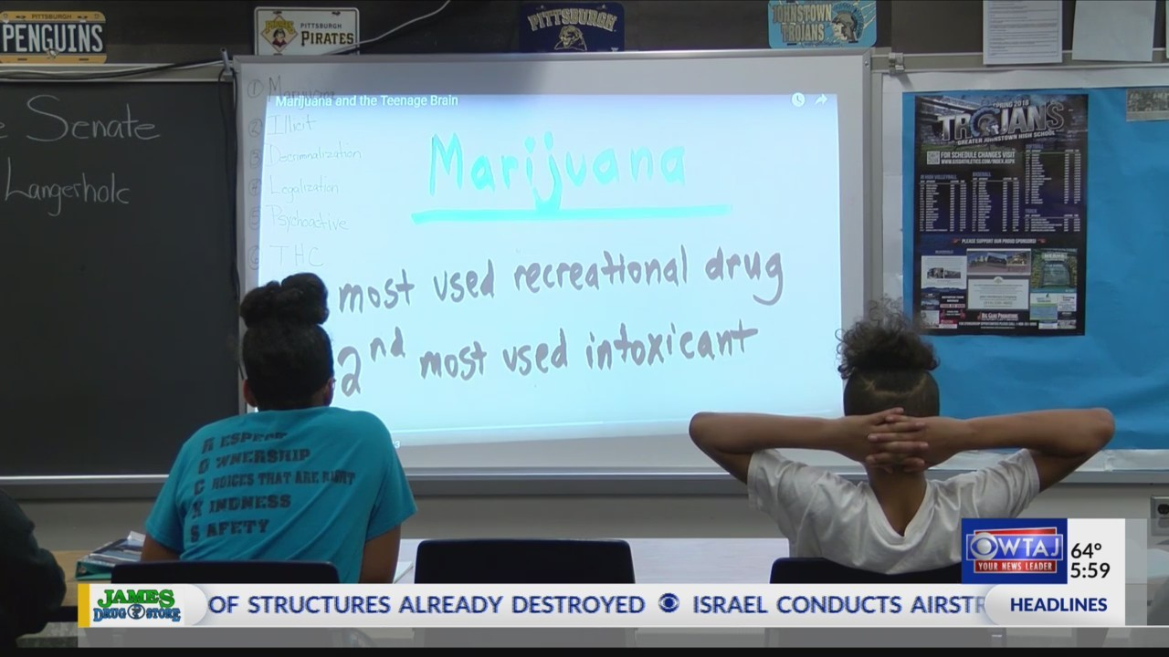 Johnstown Middle School students learn about drug abuse