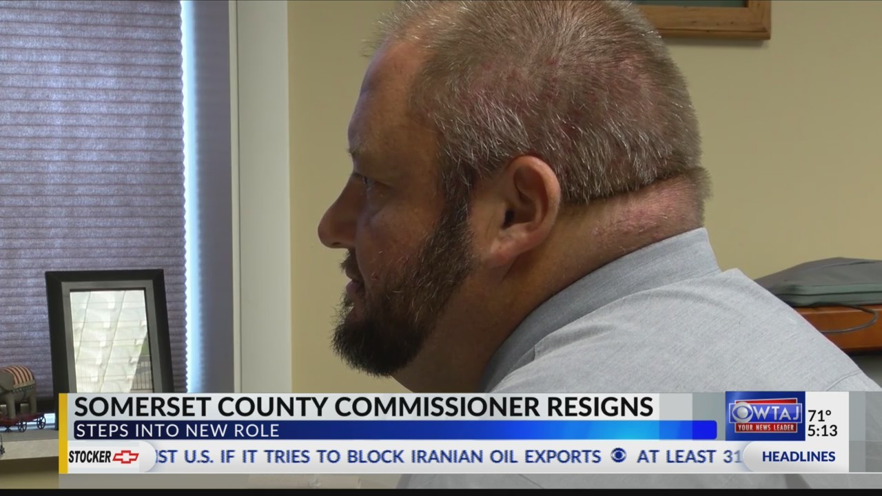 Somerset County commissioner steps down