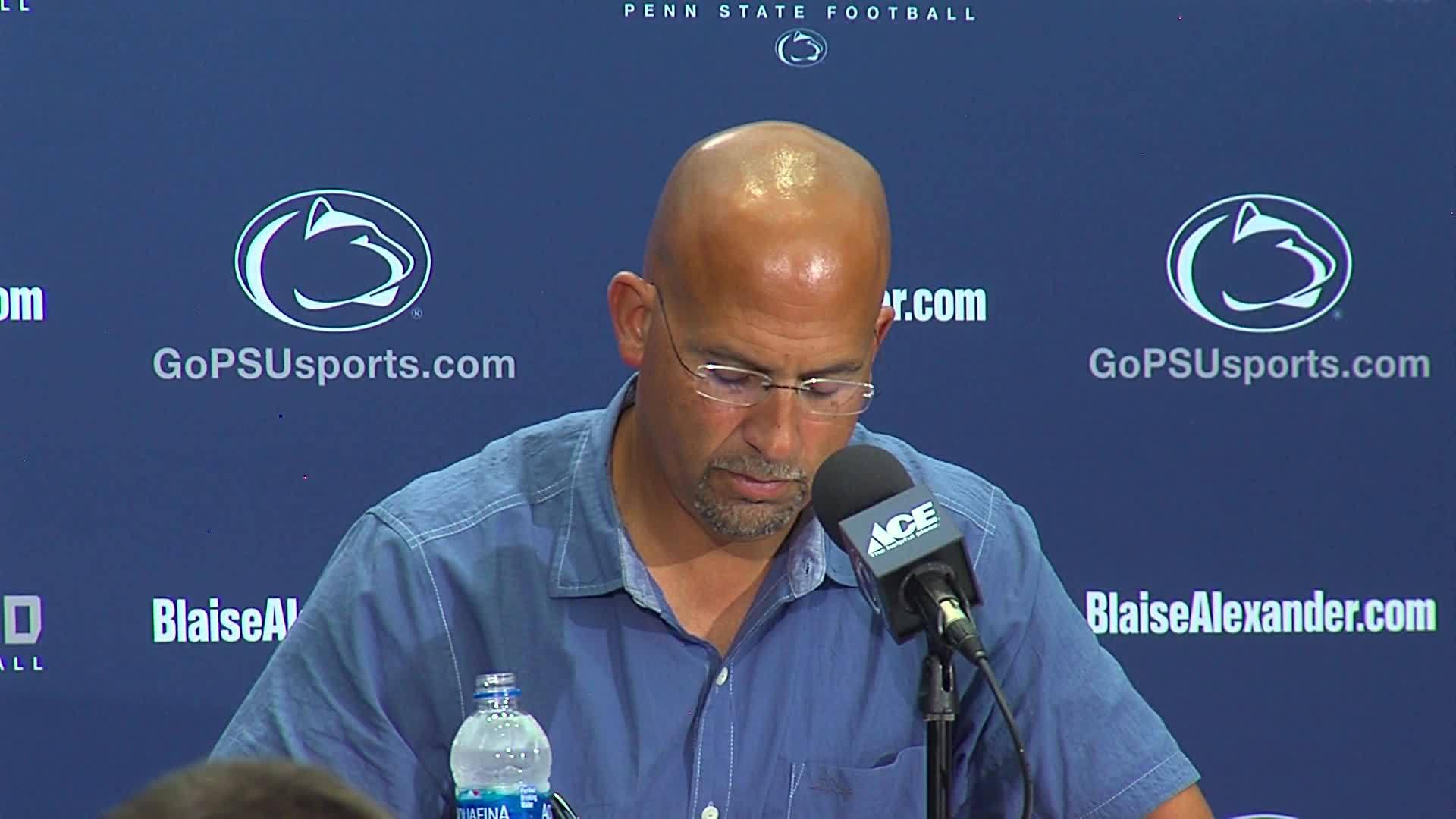 Penn State Coach Franklin Newser 8/28 Part 11