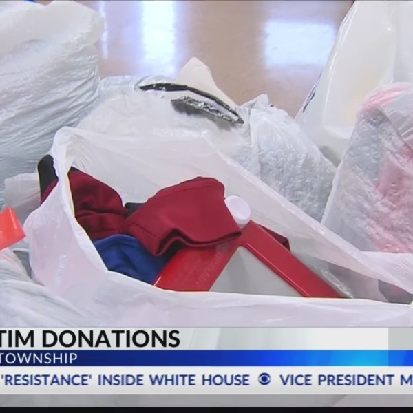 Fire victim donations