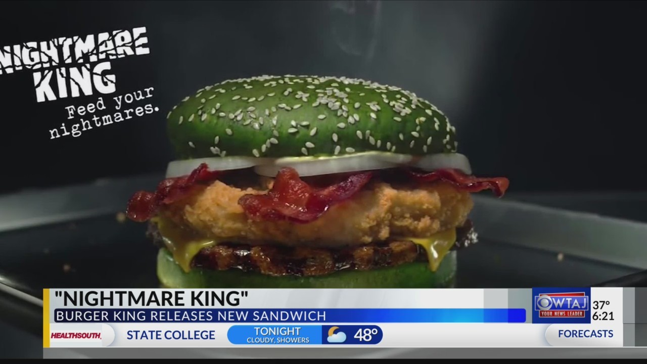 """Burger King to sell """"Nightmare King"""" sandwich."""