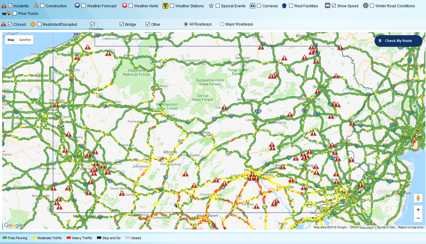 511PA interactive coverage map
