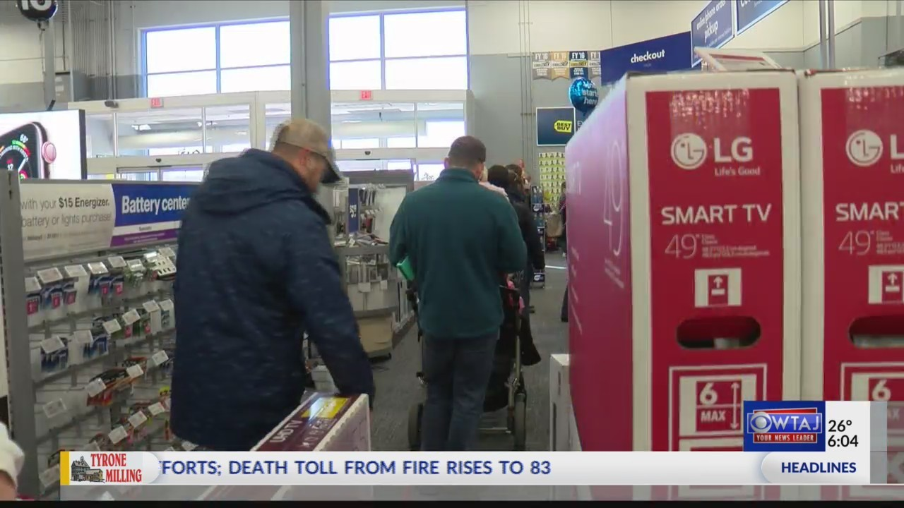 Black Friday shoppers leave empty-handed