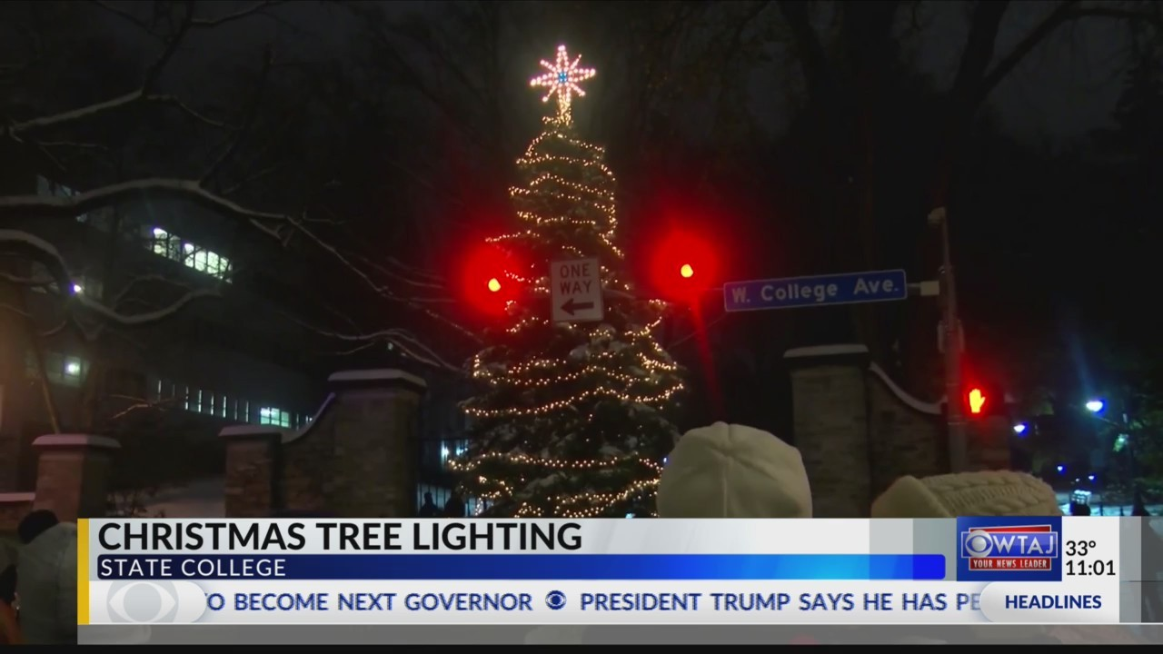 Tree Lights On University Avenue Are >> Christmas Tree Lit In Downtown State College