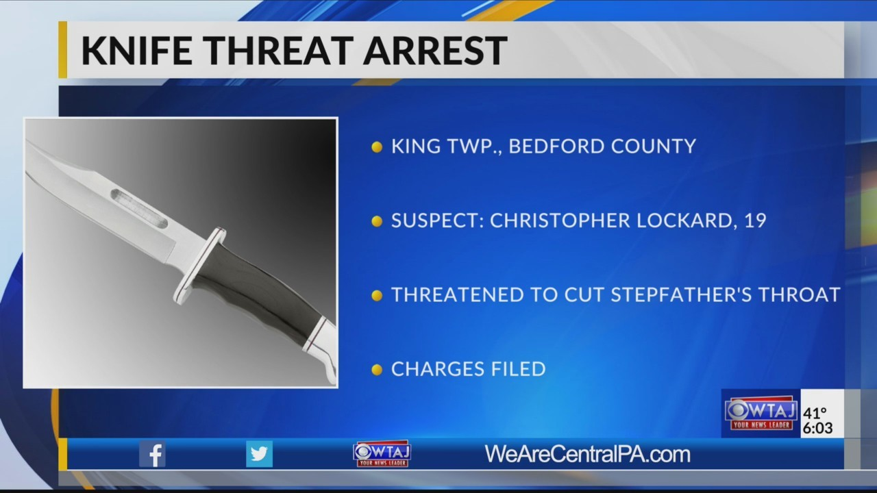 Teen arrested for threatening stepfather with knife