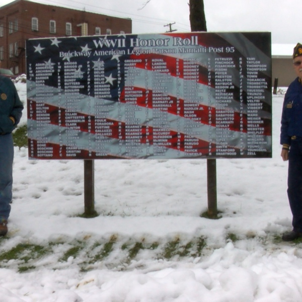 WWII Veterans Sign