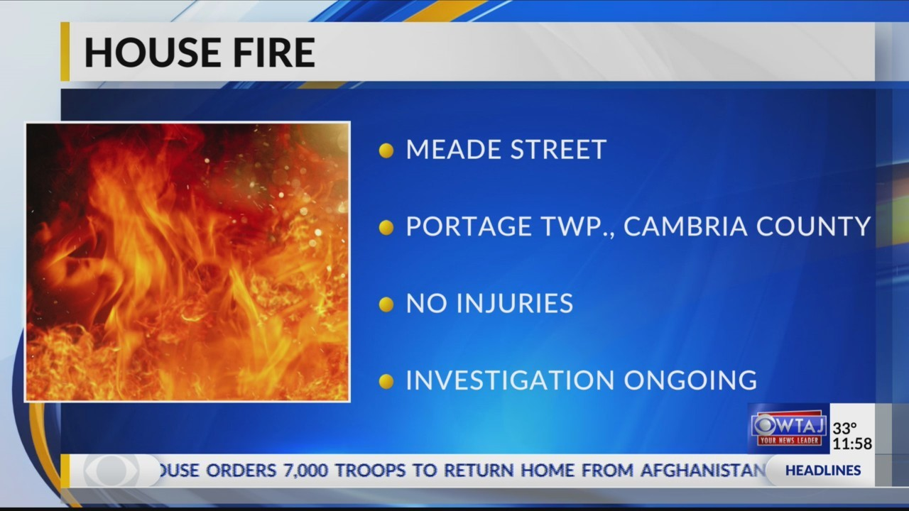 Portage Township house fire