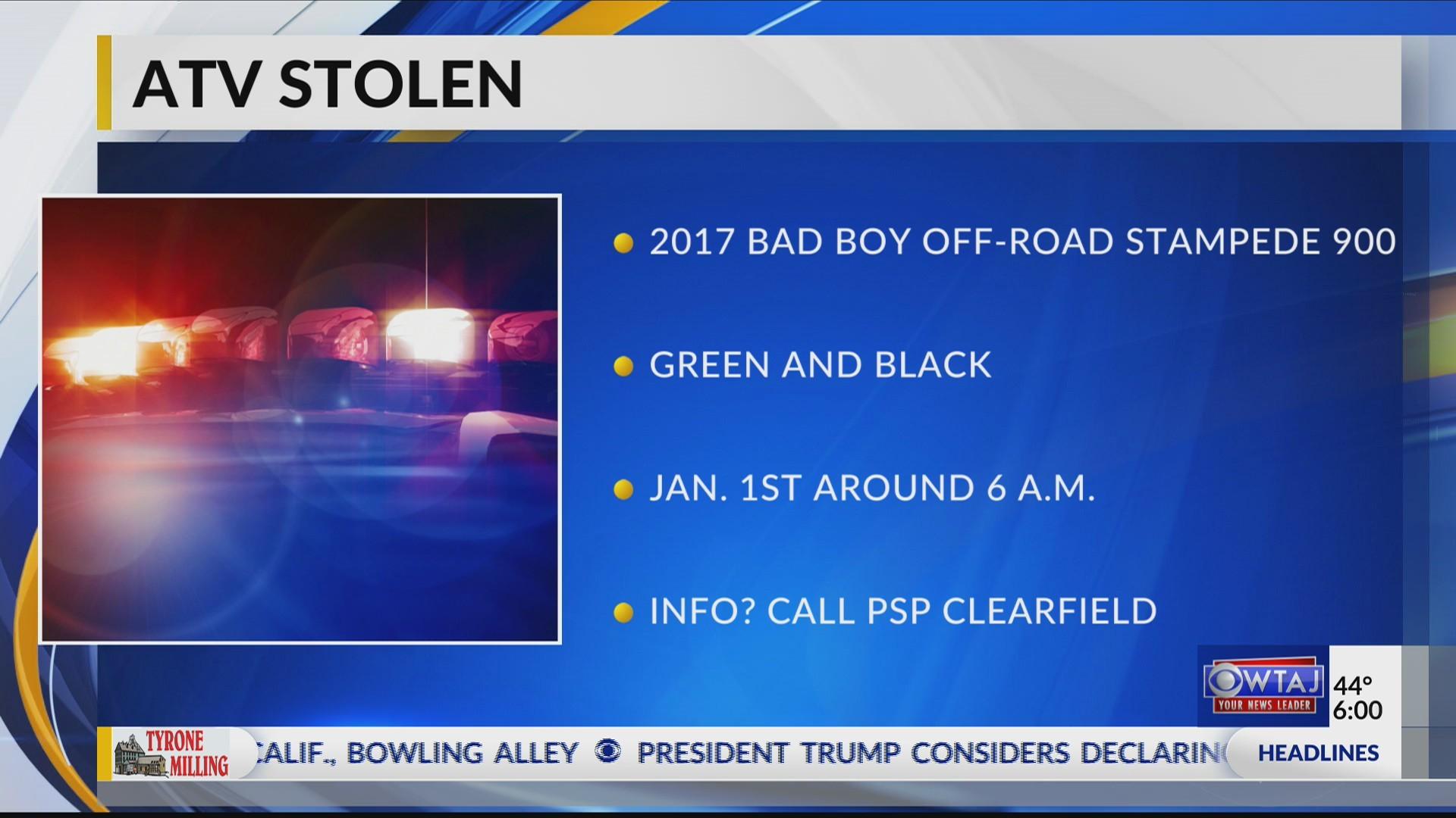 ATV stolen