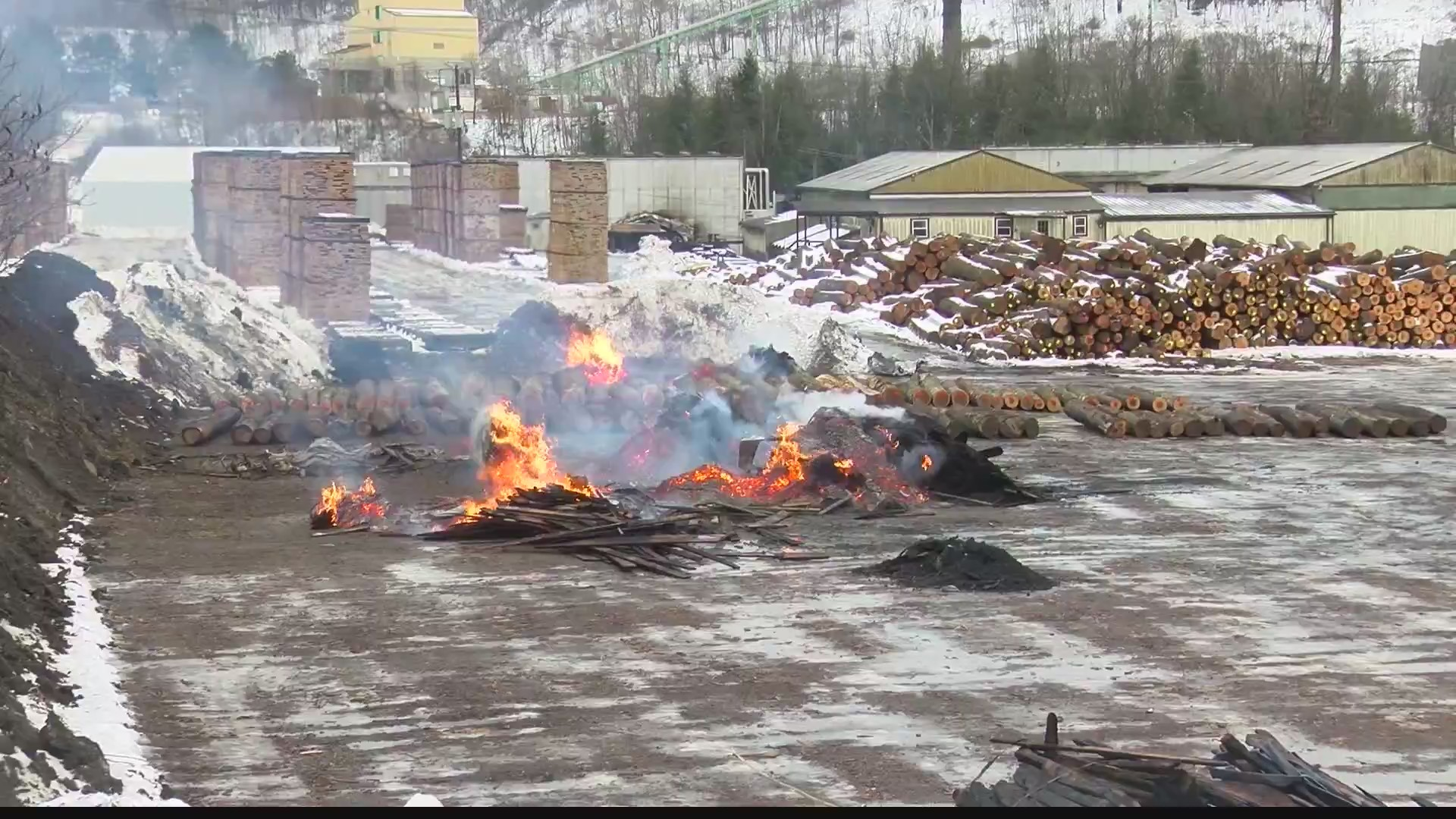 Owner of lumber yard destroyed by fire plans to get back to business