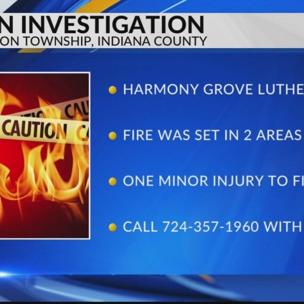 Arson investigation in Indiana County