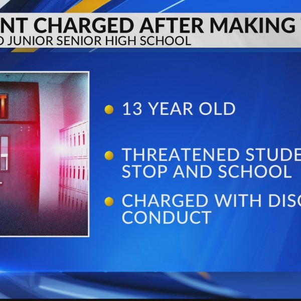 Student charged after making threats