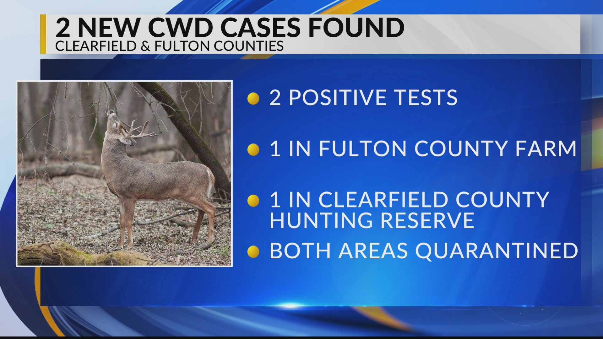 Two new CWD cases found