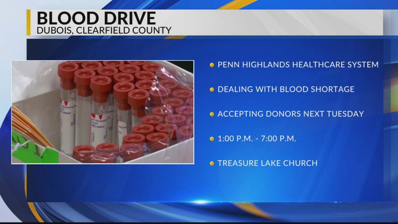 Blood Drive in DuBois
