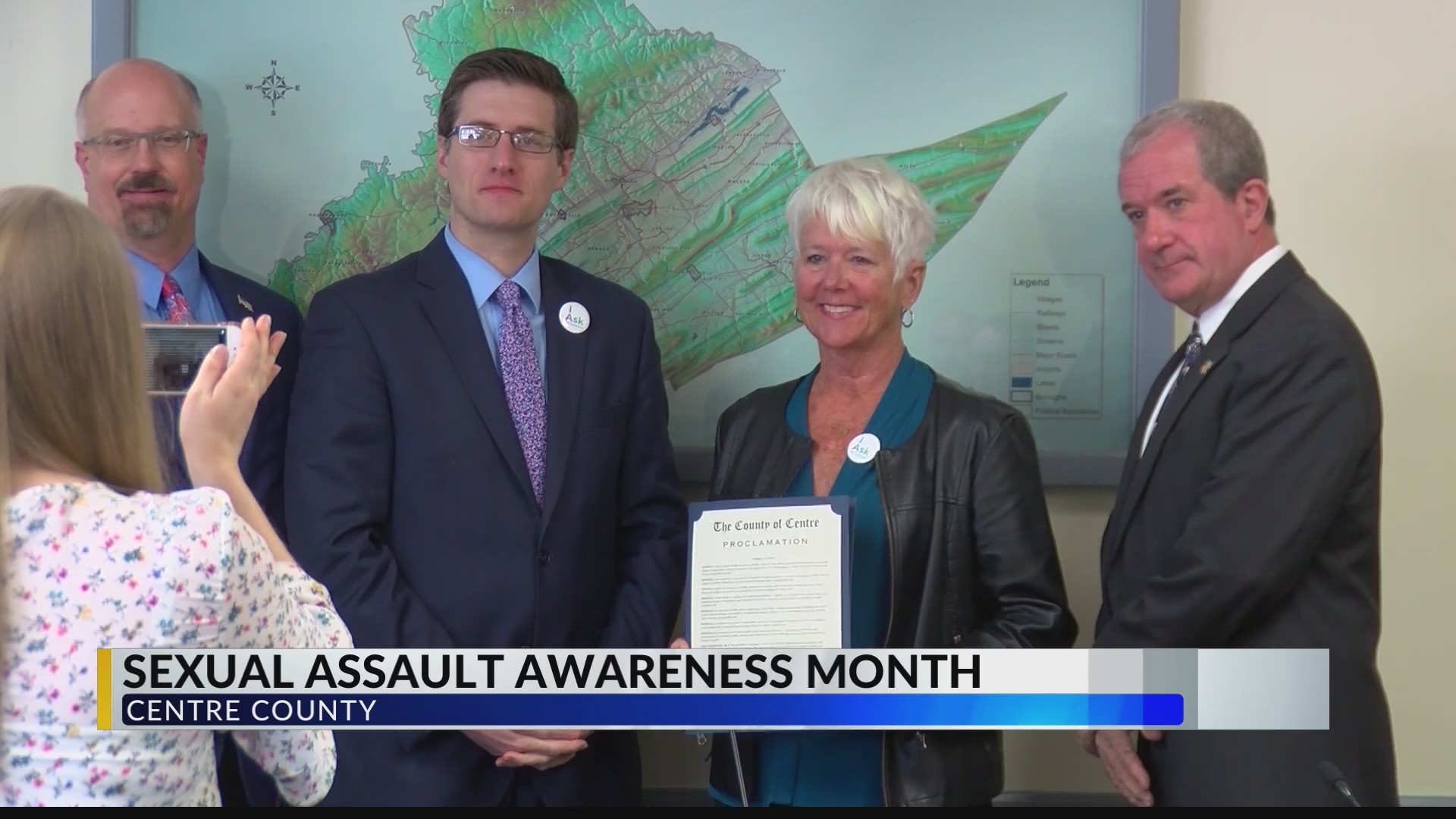 Centre Co. Commissioners present Centre Safe with proclamation