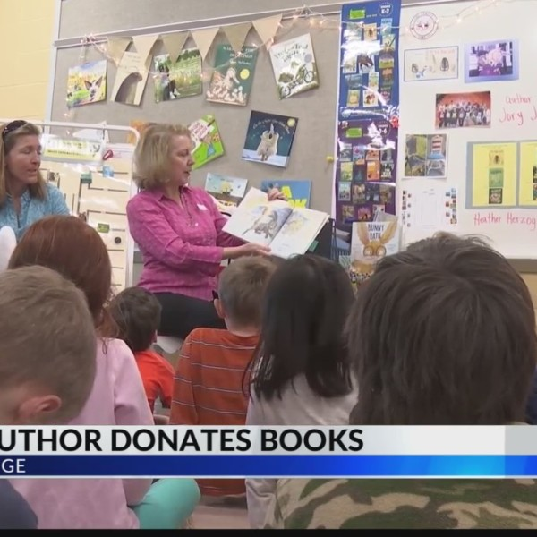 Local author donates books