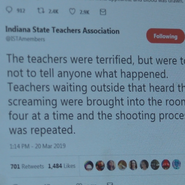 Teachers shot with fake bullets during training