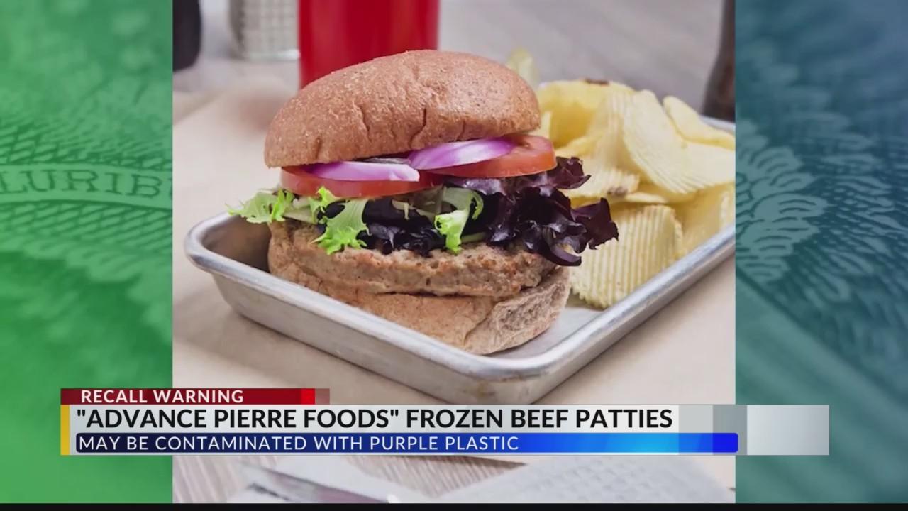 Frozen beef patties recall