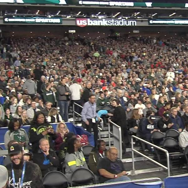 March To Glory: Spartan fans in Minneapolis