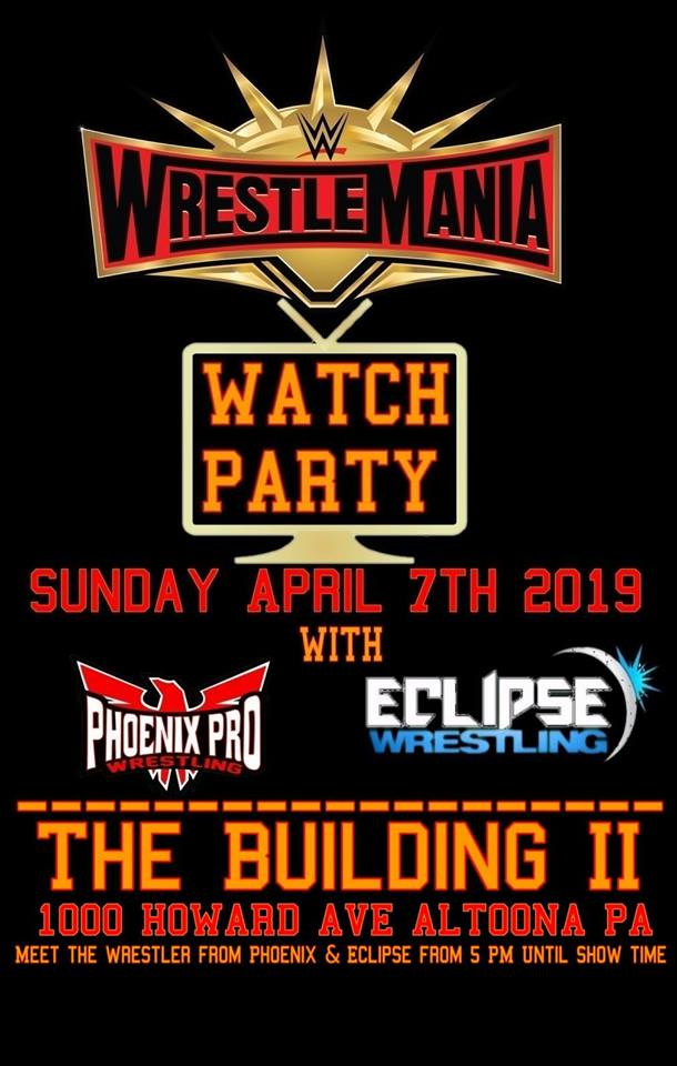 Free Wrestlemania watch party in Altoona