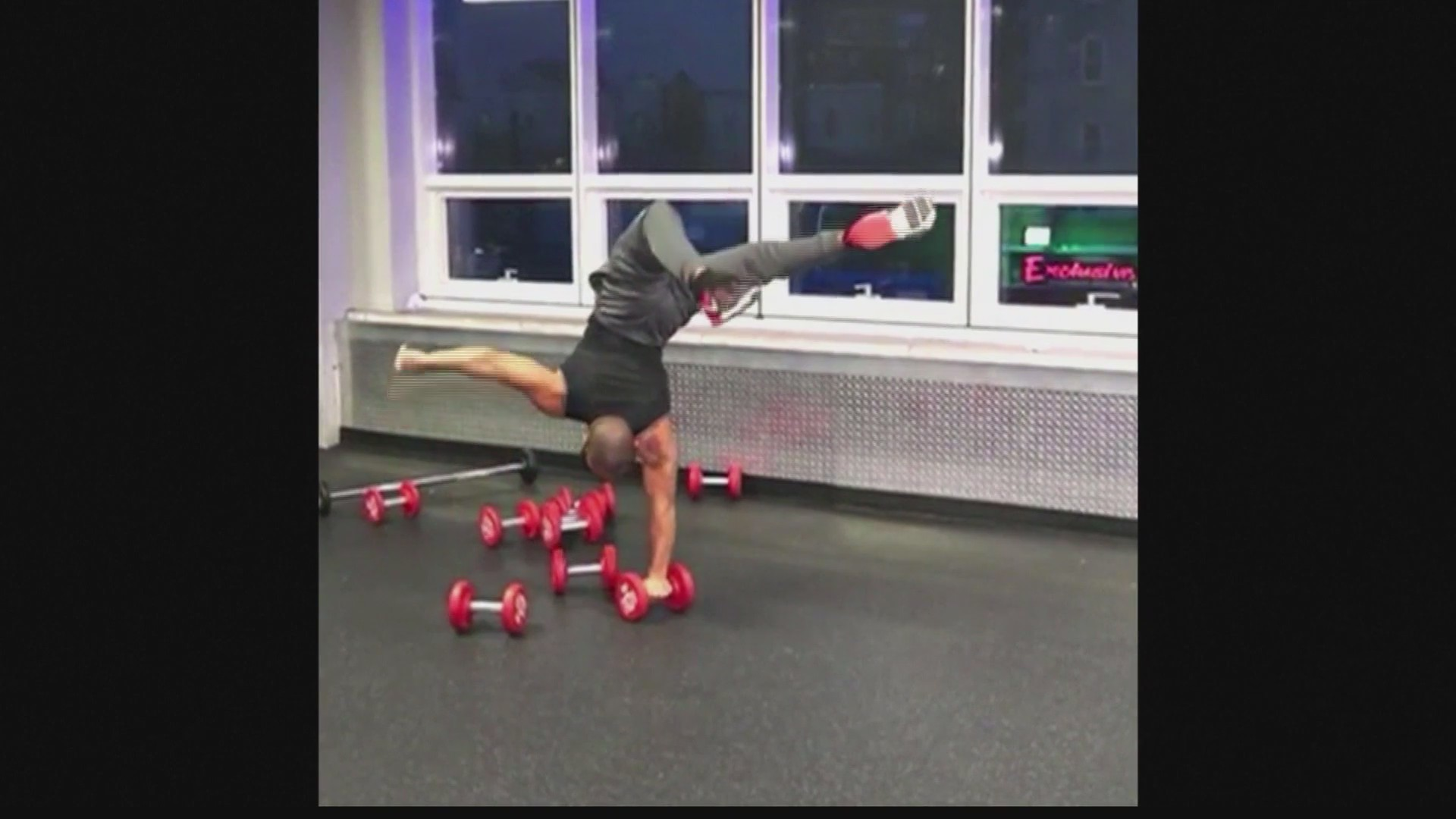 Athlete shows off talent