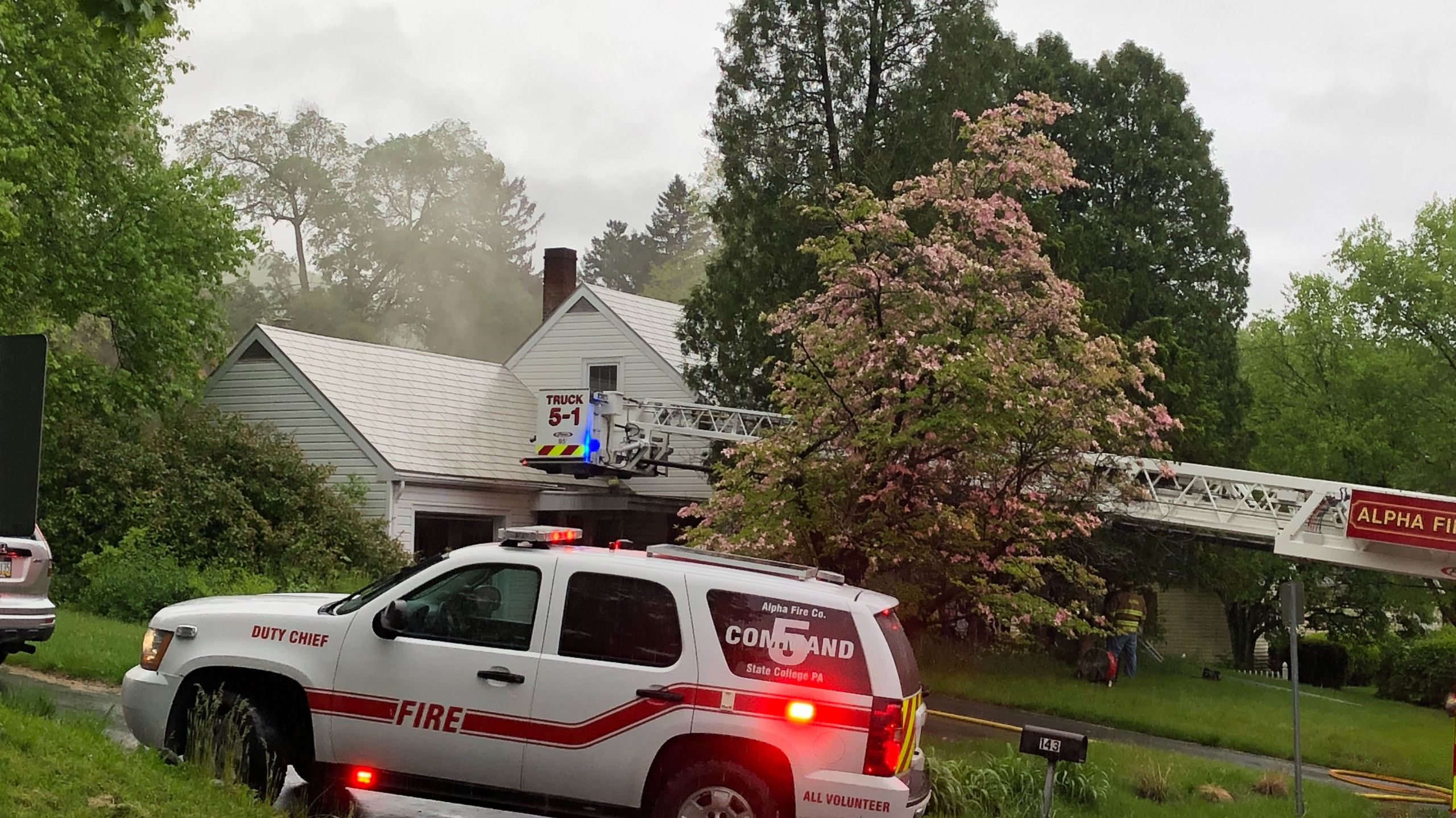 Crews respond to bedroom fire in College Township