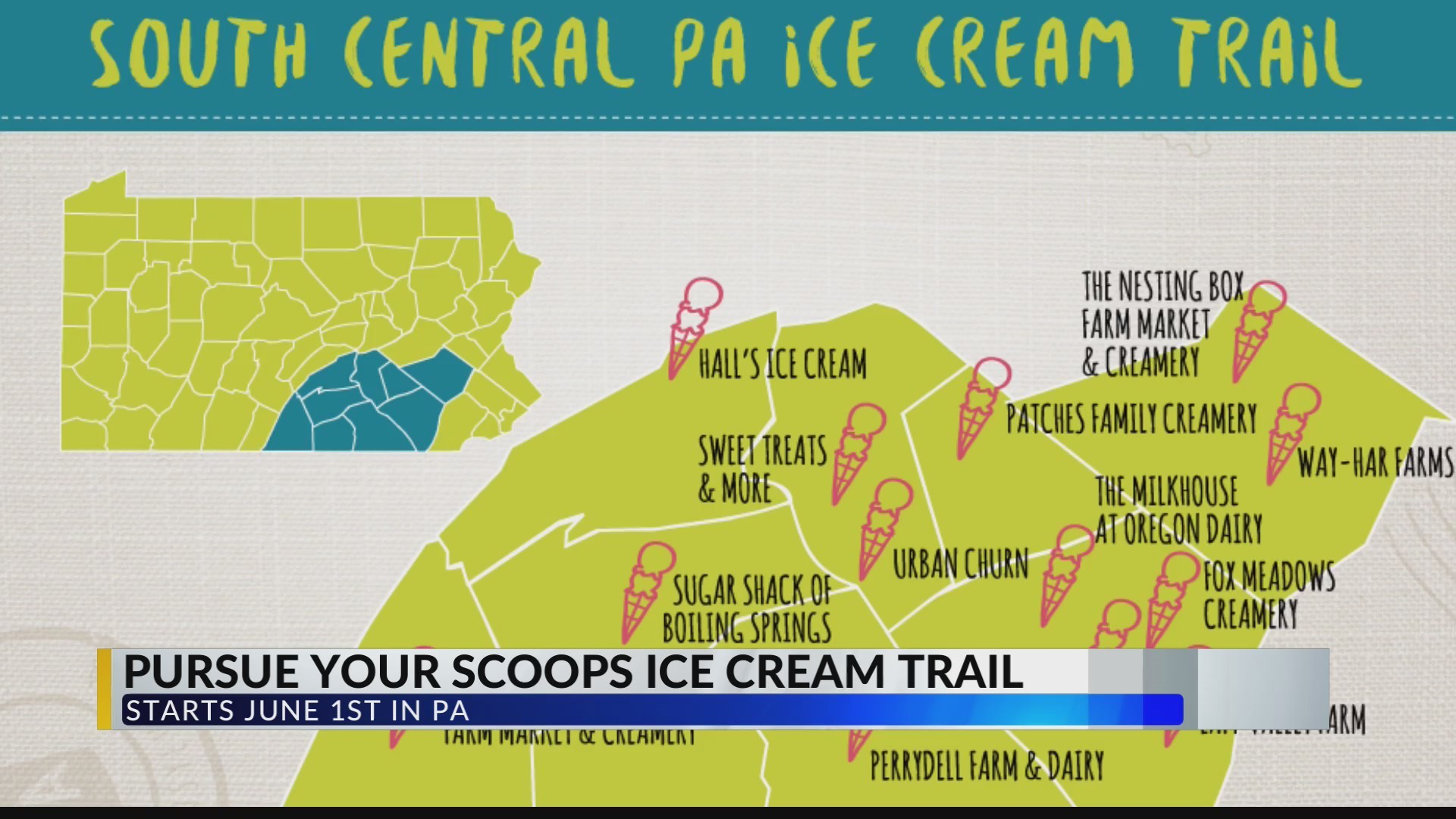 Pennsylvania ice cream trail will have you eating ice cream ...
