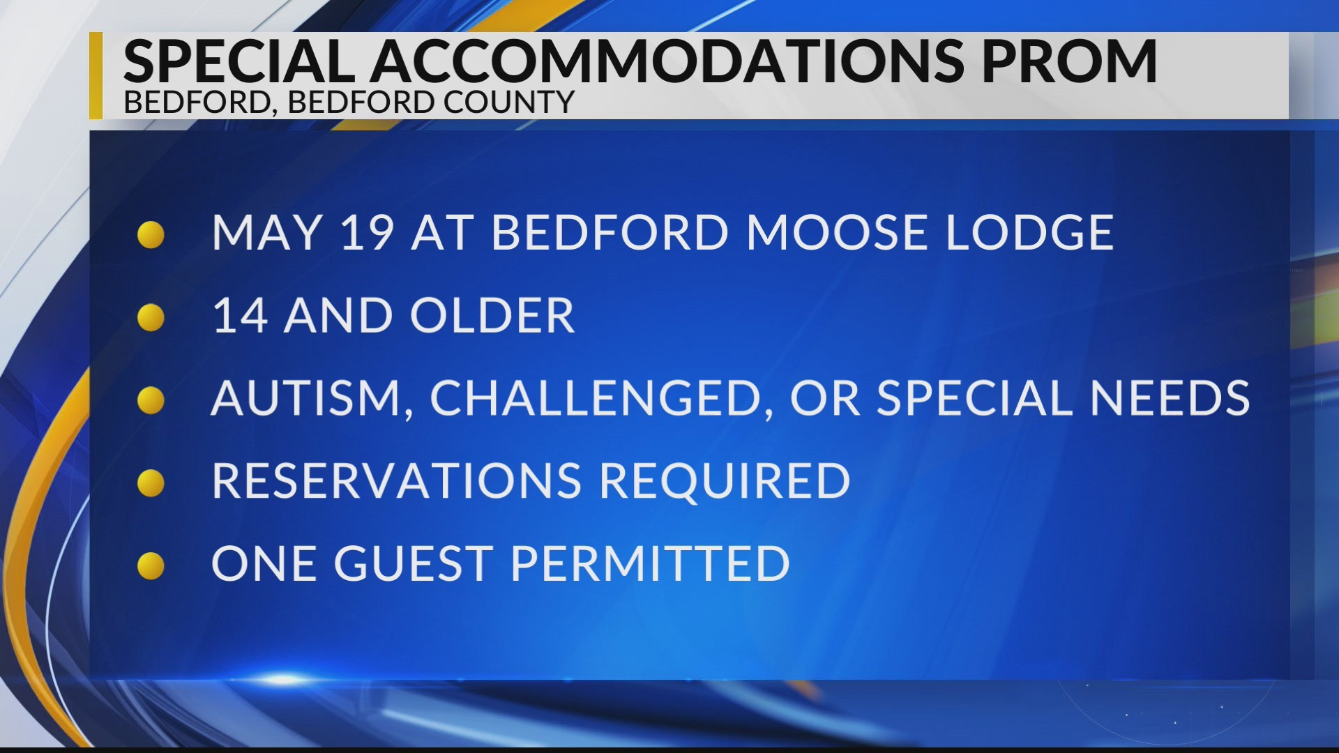 Special Accommodations Prom