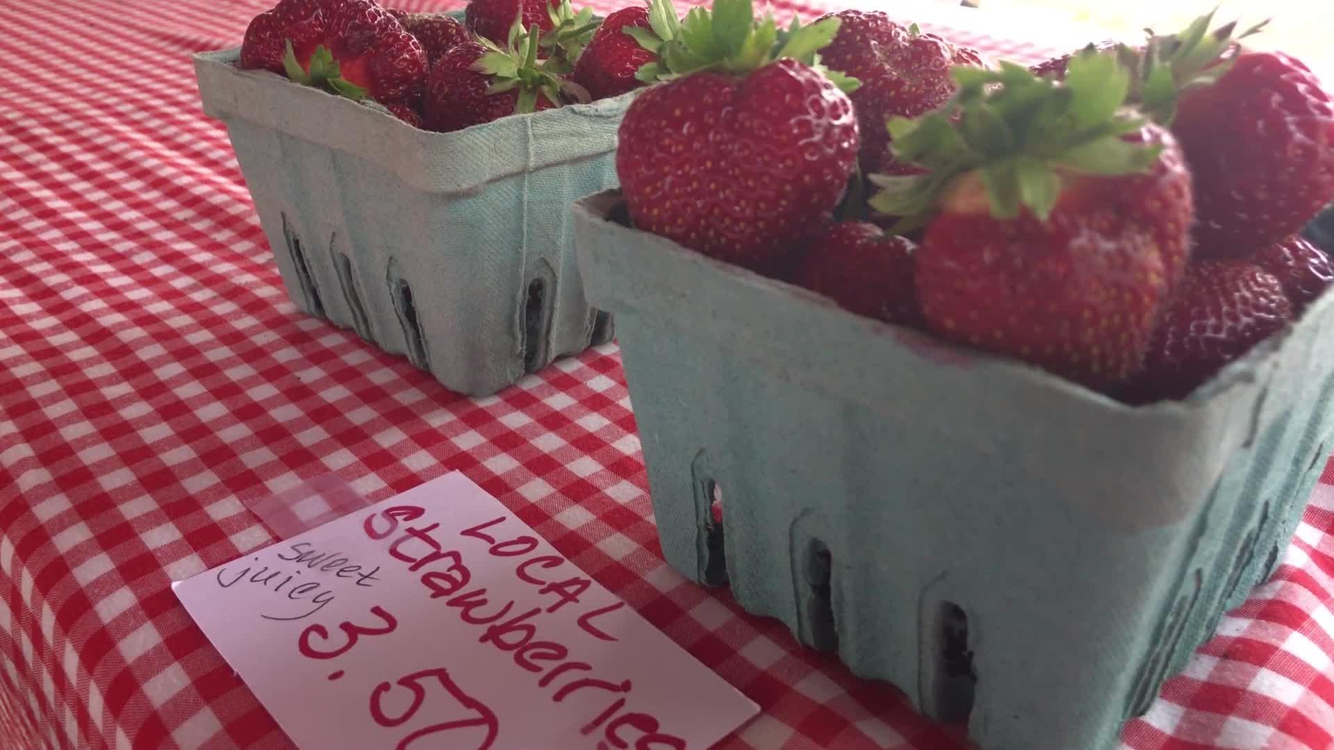 Strawberries at the Altoona Farmer's Market