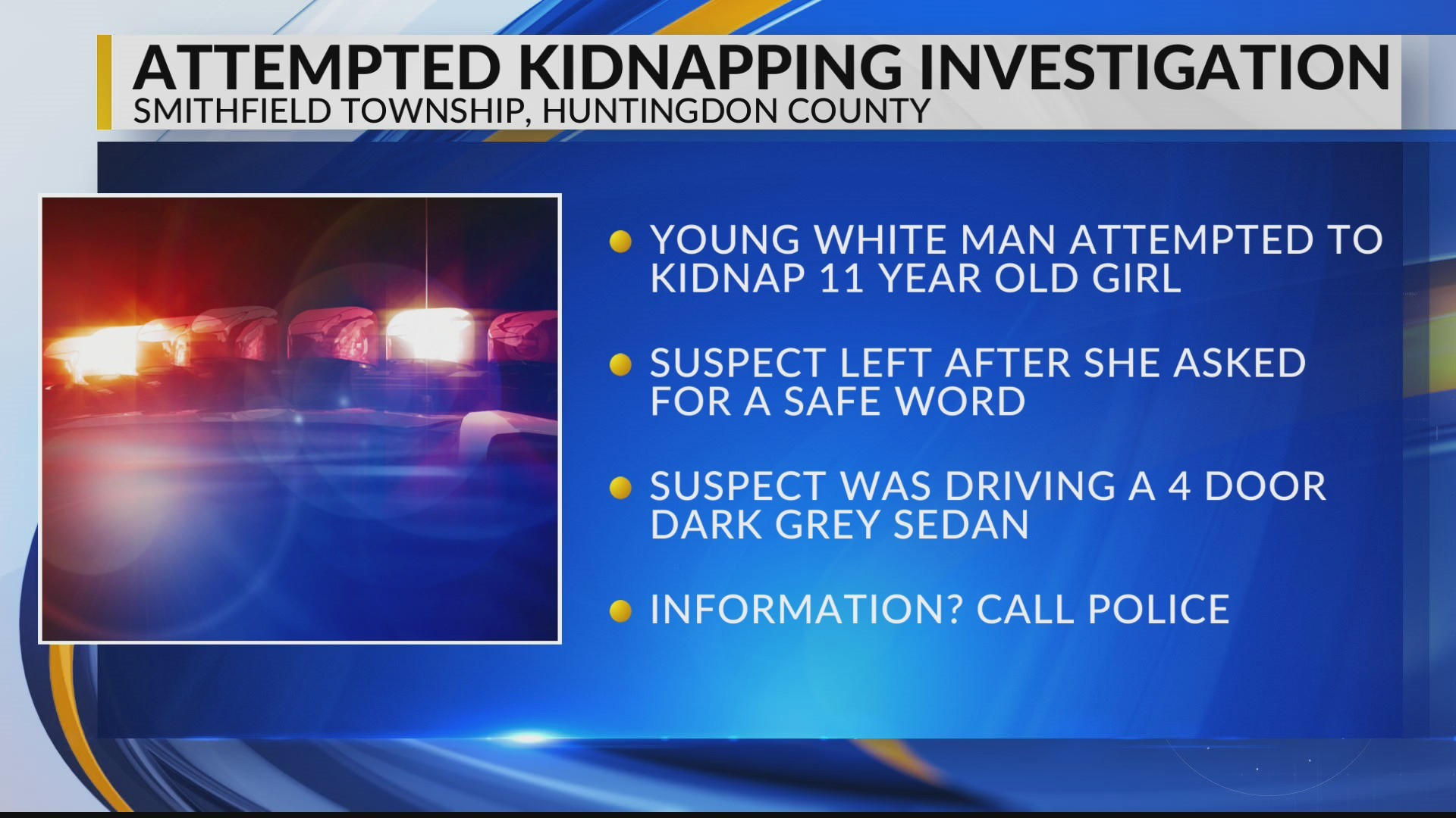 Child safe after attempted kidnapping