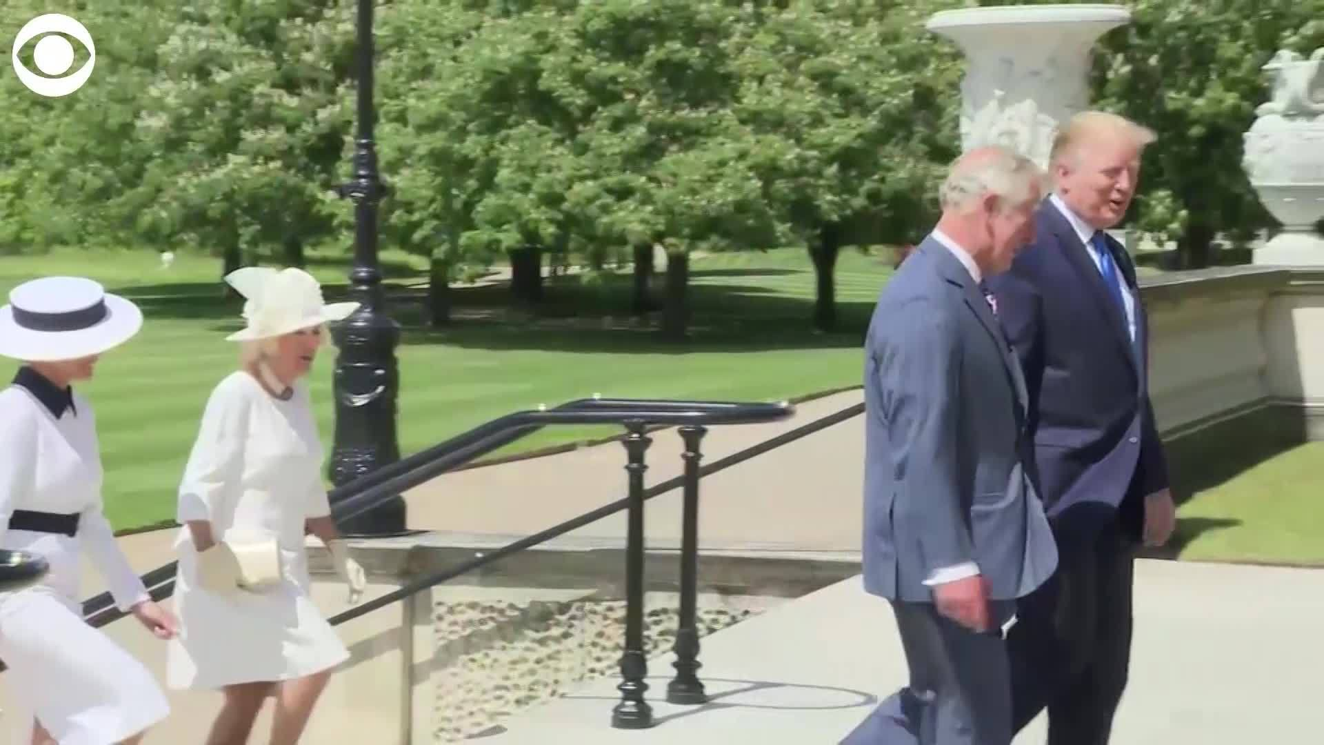 WEB EXTRA President Trump meets Queen