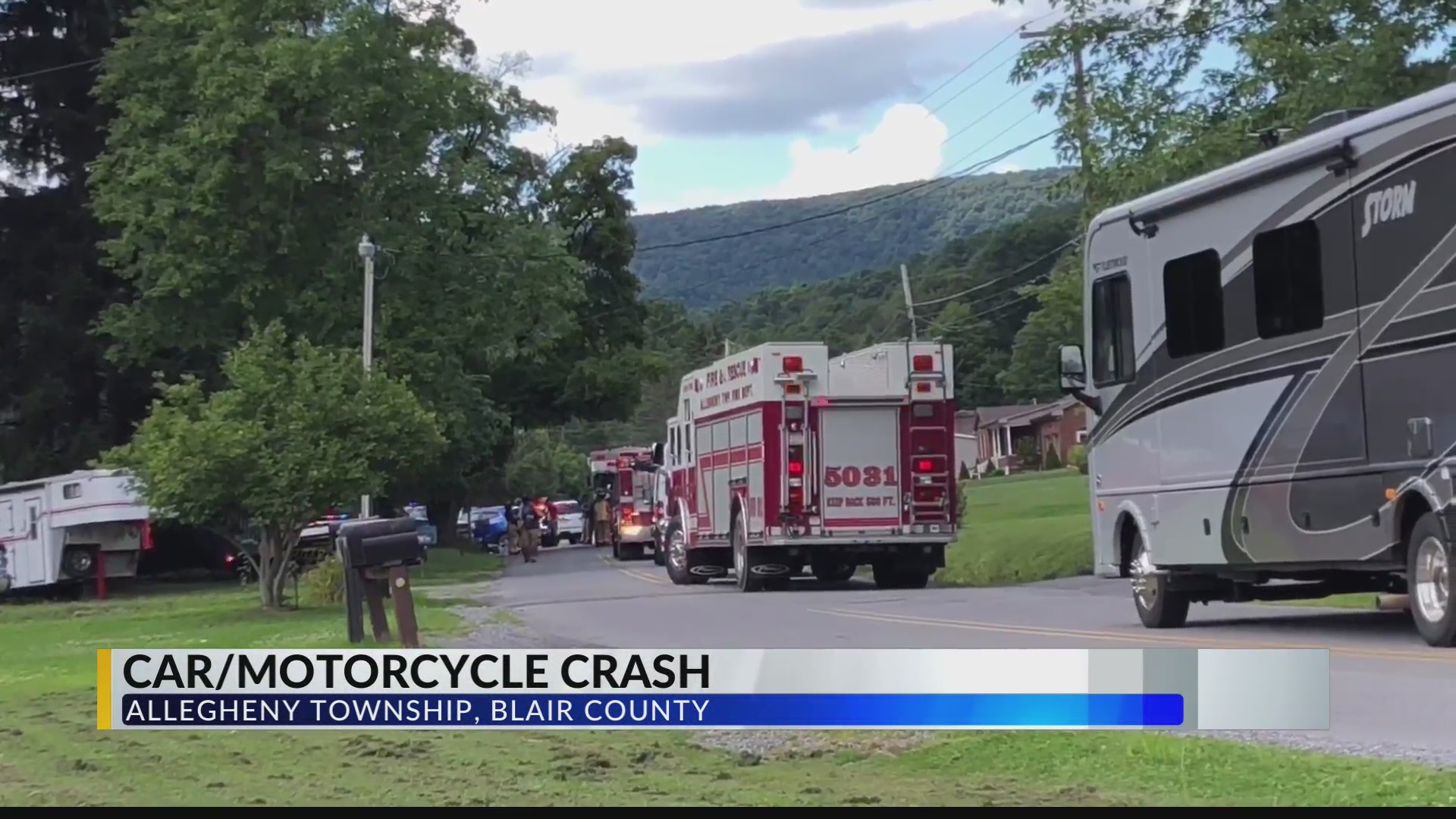 Car vs  Motorcycle Crash sends one person to the hospital
