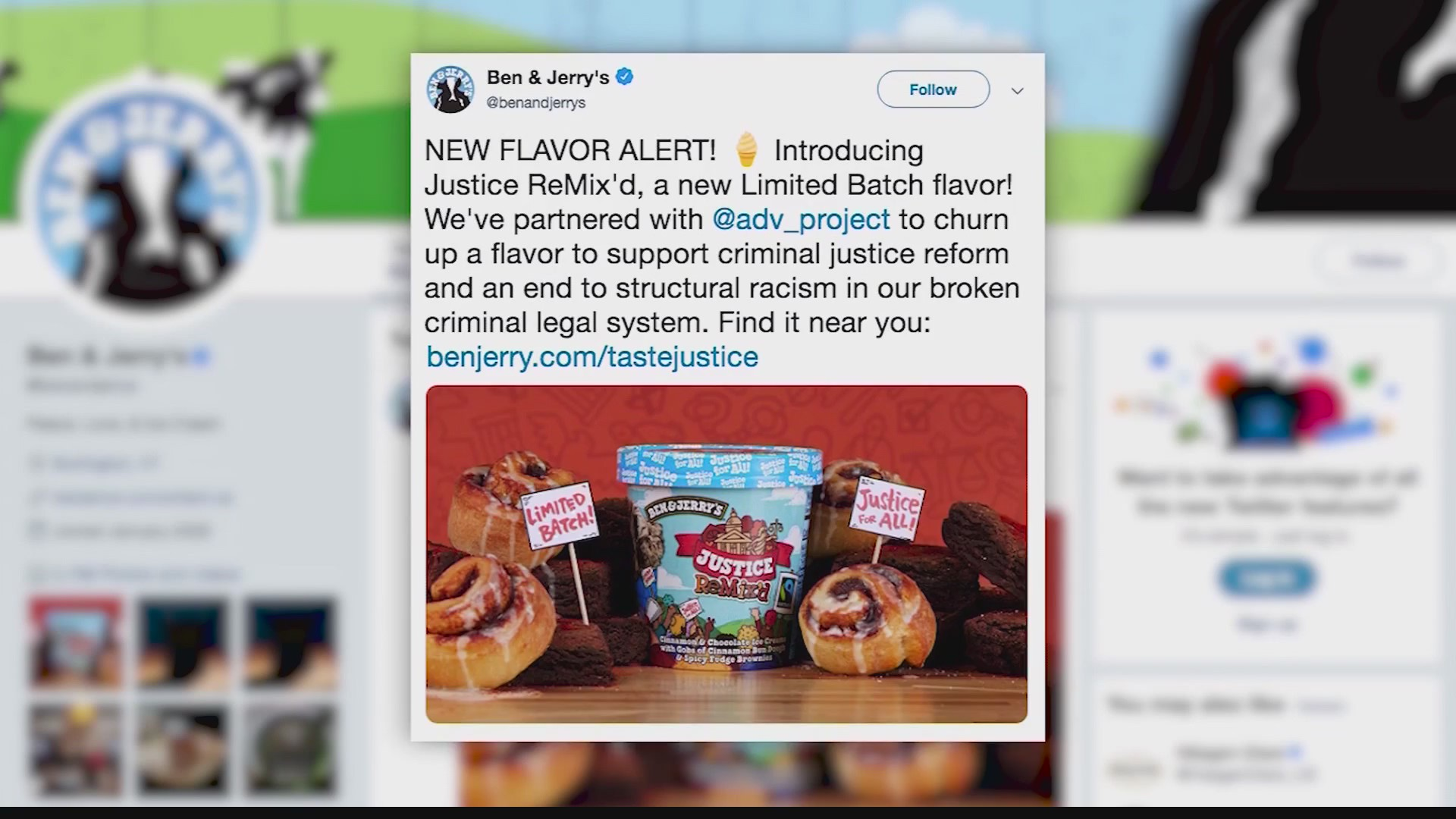 Ben and Jerry's offers a new flavor | WTAJ