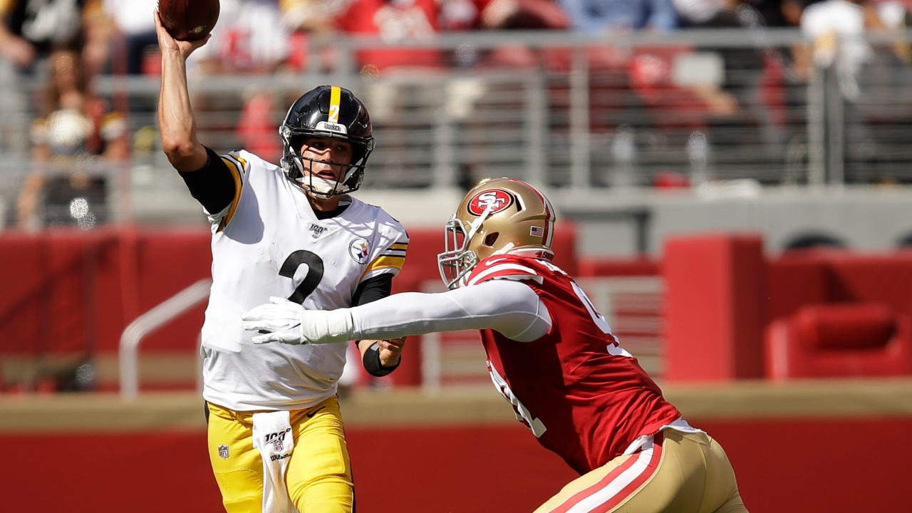 reputable site 3b958 830b1 Steelers now 0-3 after loss to 49ers