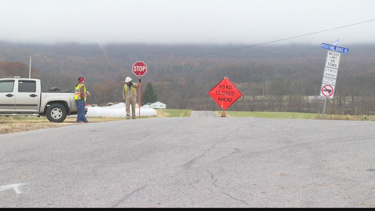 Crews Work To Clean Up Fuel Leak In Huntingdon County