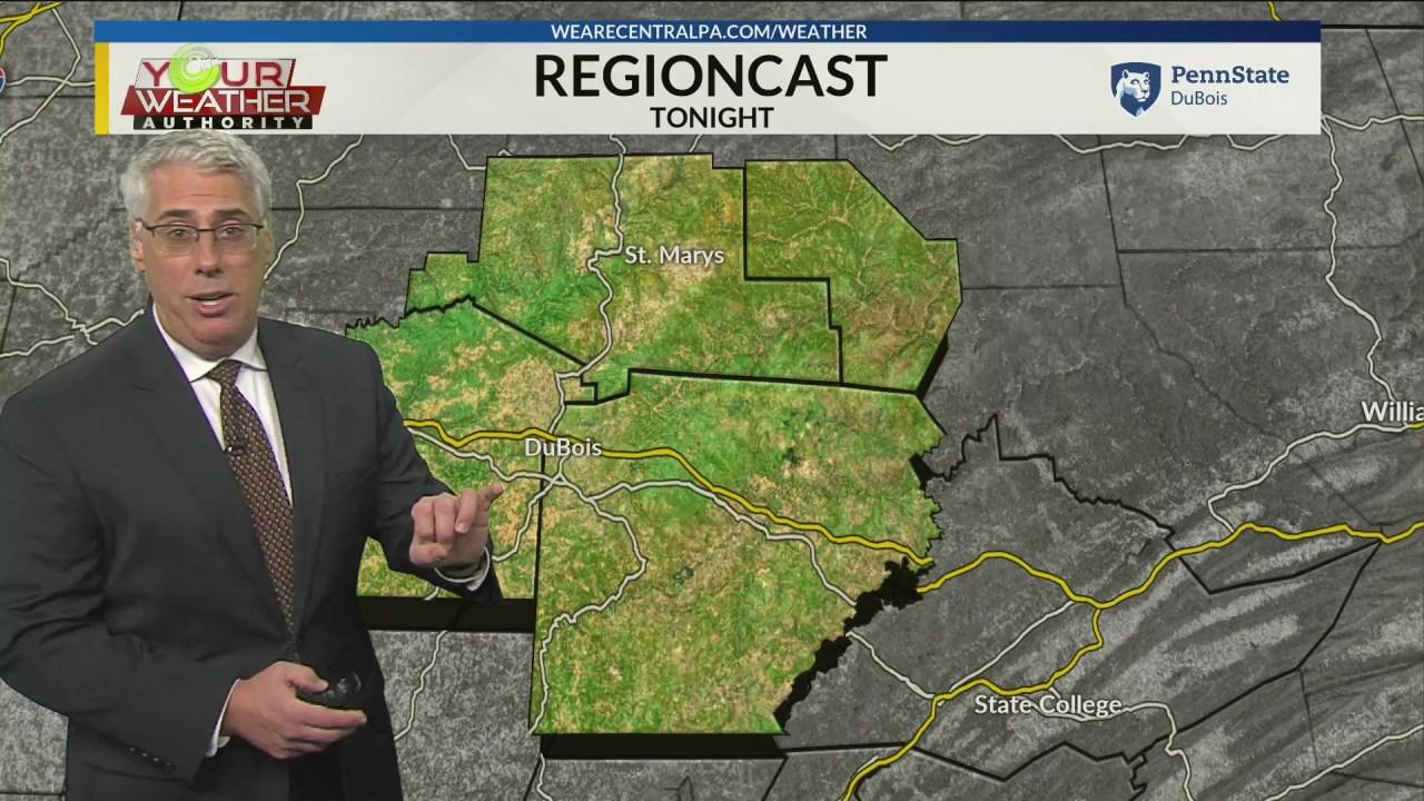 Evening Weather Forecast Monday, November 18th, 2019