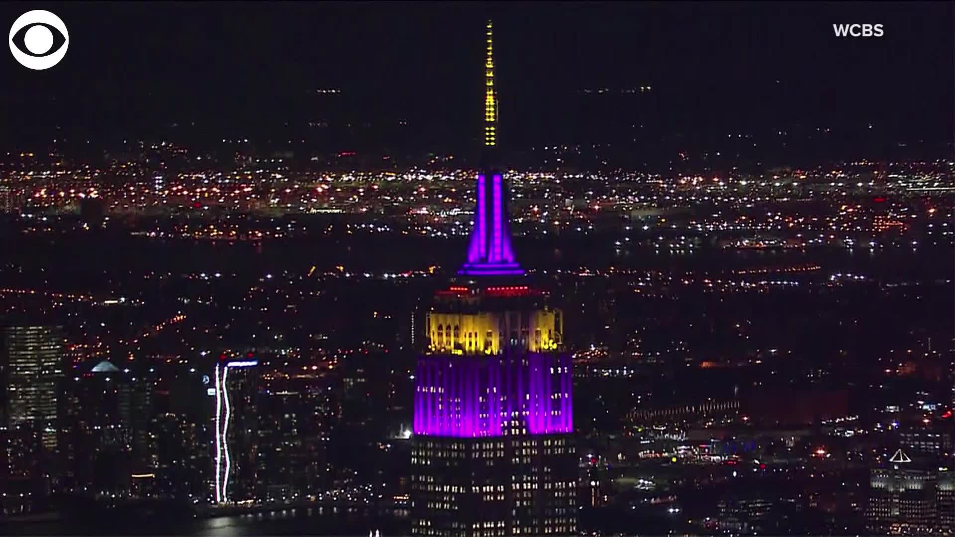 Web Extra Empire State Building Lit Up In Lakers Colors Wtaj Www Wearecentralpa Com